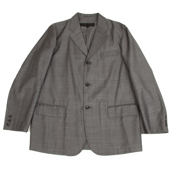 コムデギャルソン オムCOMME des GARCONS HOMME エステルウール縫い代出しジャケット クレーL【中古】 【メンズ】