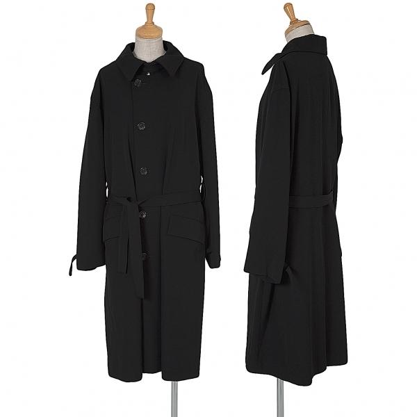 ヨウジヤマモトノアール Yohji Yamamoto NOIR ウールギャバステンカラーコート 黒3【中古】