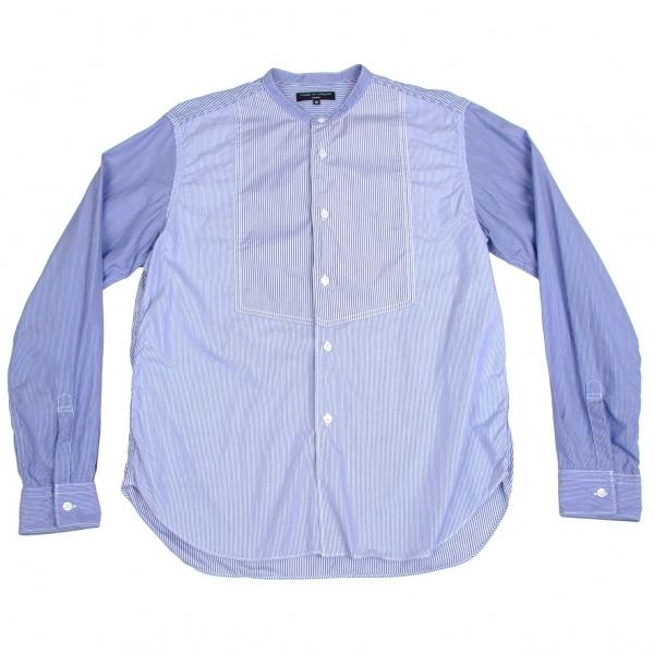 コムデギャルソン オムCOMME des GARCONS HOMME コットンスタンドカラー切り替えシャツ 青紺白M【中古】