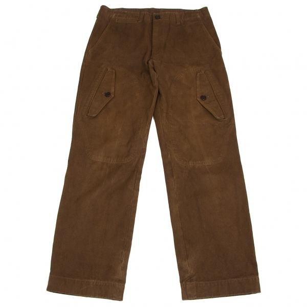 コムデギャルソン オムCOMME des GARCONS HOMME コットン製品染めポケットデザインパンツ 茶S【中古】 【メンズ】