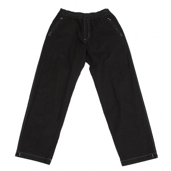 コムデギャルソン オム オム COMME des GARCONS HOMME HOMME コットン製品染めジップポケットパンツ 黒白M【中古】 【メンズ】