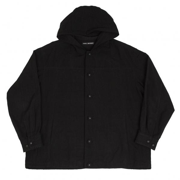 イッセイミヤケメンISSEY MIYAKE MEN 製品染めインド綿フーデッドジャケット 黒3【中古】 【メンズ】