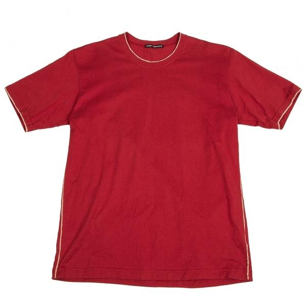 イッセイミヤケメンISSEY MIYAKE MEN コットン抜染Tシャツ ワインレッドベージュ2【中古】 【メンズ】