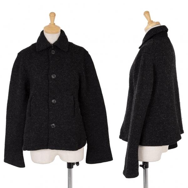 ワイズY's ローゲージウールニットジャケット チャコールグレー3【中古】 【レディース】