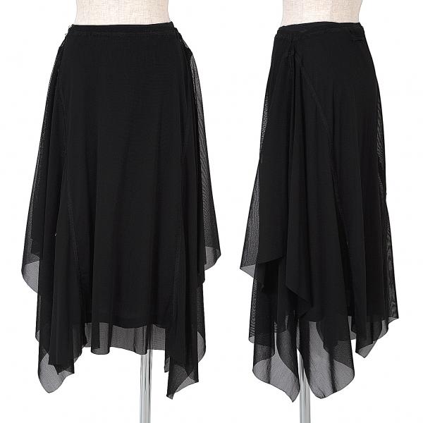 ジャンポールゴルチエ ファムJean Paul GAULTIER FEMME ステッチデザインパワーネットスカート 黒40【中古】