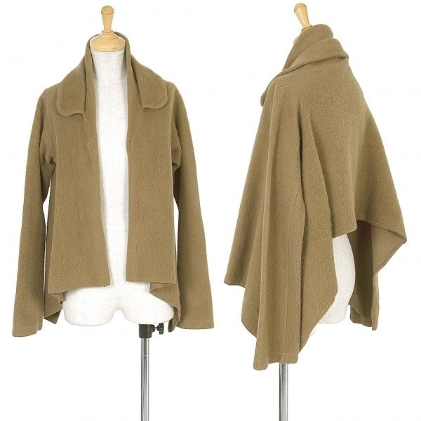 コムデギャルソンCOMME des GARCONS ボタンレス起毛ショートジャケット キャメルXS【中古】