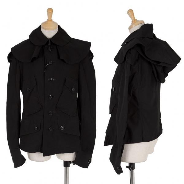 新品!ワイズY's 付け襟デザインジャケット 黒2