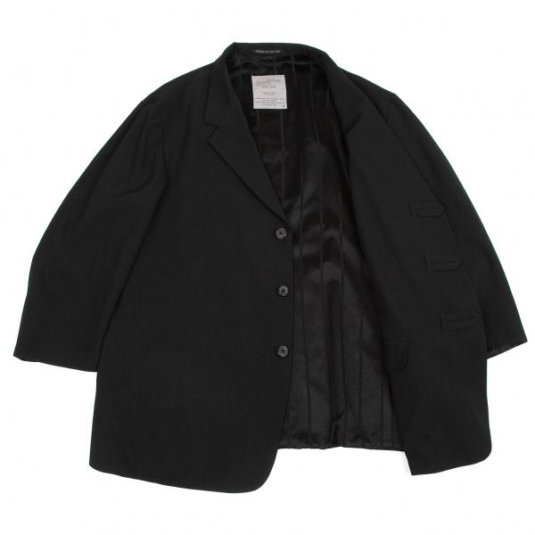 ヨウジヤマモト プールオムYohji Yamamoto POUR HOMME リバーシブルウールギャバジャケット 黒S【中古】