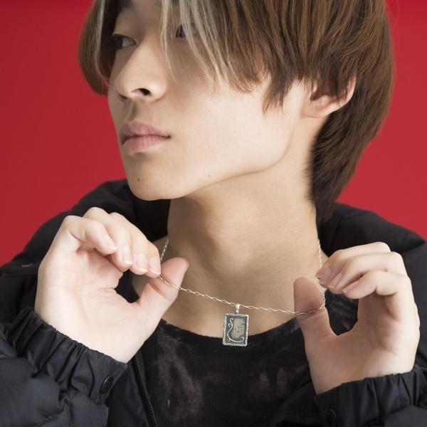 【受注商品】ウズオウUZUOU シルバー925 百人一首プレートトップデザインネックレス シルバー45・50・55cm