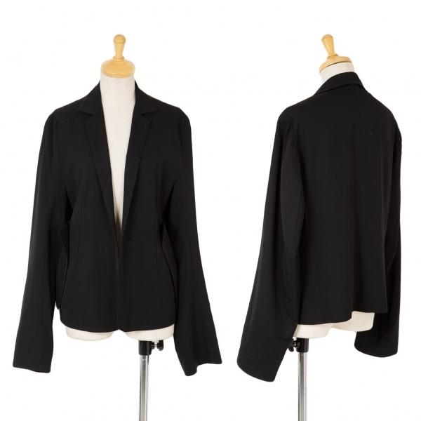 ワイズY's ボタンレスデザインウールギャバジャケット 黒3【中古】