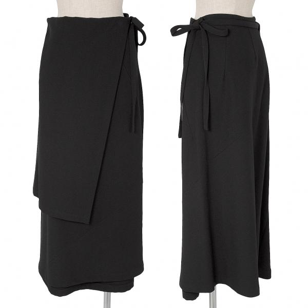 トリコ コムデギャルソンtricot COMME des GARCONS ウエストデザインウールスカート 黒M【中古】