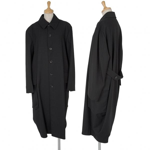 トリコ コムデギャルソンtricot COMME des GARCONS ビッグポケットウールコート 黒M位【中古】