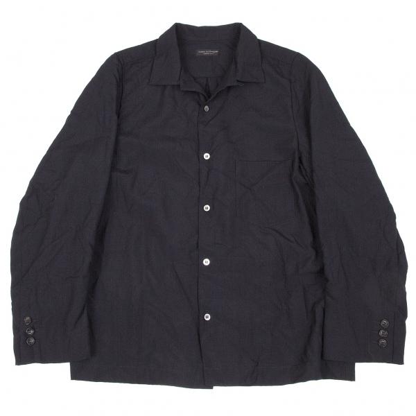コムデギャルソン オムプリュスCOMME des GARCONS HOMME PLUS ポリウールオープンカラーシャツ 濃紺S位【中古】 【メンズ】