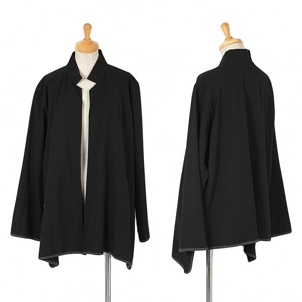 ワイズY's ウールギャバパイピングボタンレスシャツジャケット 黒3【中古】 【レディース】
