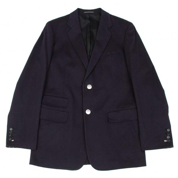 ヨウジヤマモト プールオムYohji Yamamoto POUR HOMME コットンボタンデザイン4ポケットジャケット 紺3【中古】