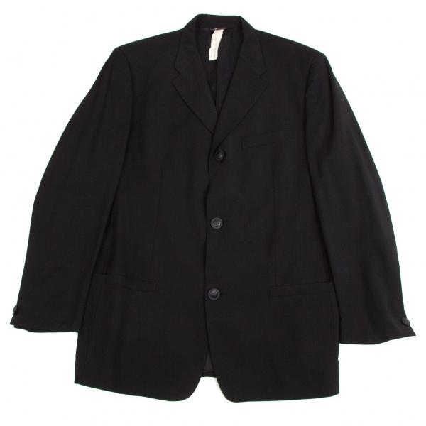 ジャンニ ヴェルサーチGIANNI VERSACE メデューサデザイン3Bテーラードサマーウールジャケット 紺52【中古】【メンズ】