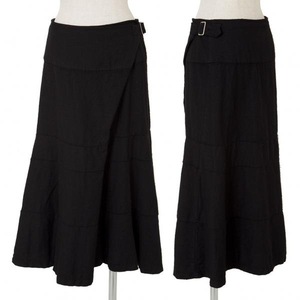 トリココムデギャルソンtricot COMME des GARCONS ウール製品染めラップスカート 黒M【中古】 【レディース】