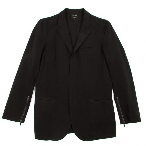 ジャンポールゴルチエオムJean Paul GAULTIER HOMME ナイロンポリジップデザインジャケット 黒48【中古】【メンズ】