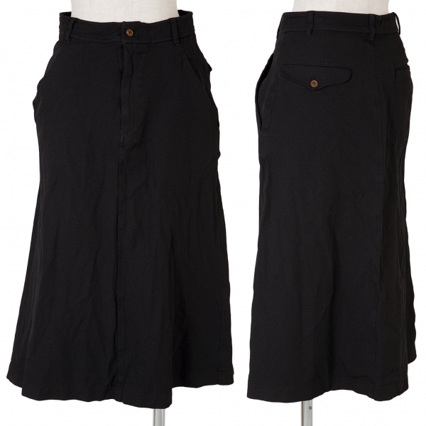コムコム コムデギャルソンCOMME des GARCONS ポリ製品染めスカート 黒XS【中古】 【レディース】