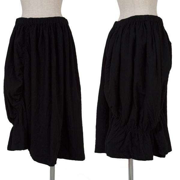 ワイズY's 圧縮ウールシャーリングデザインスカート 黒2【中古】 【レディース】