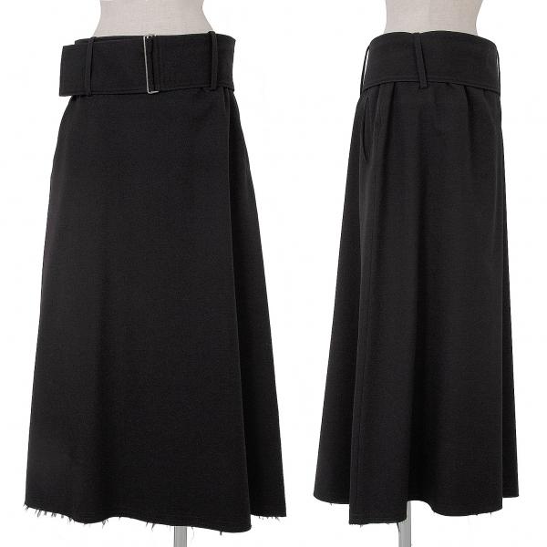 ワイズY's ウールワイドベルト裾裁ち切りスカート 黒4【中古】 【レディース】