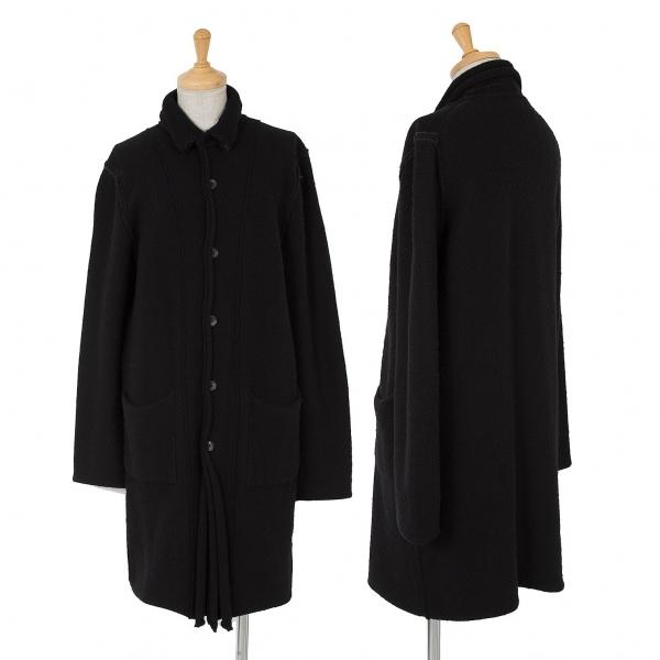ワイズY's ウール切替デザインニットロングカーディガン 黒3【中古】 【レディース】