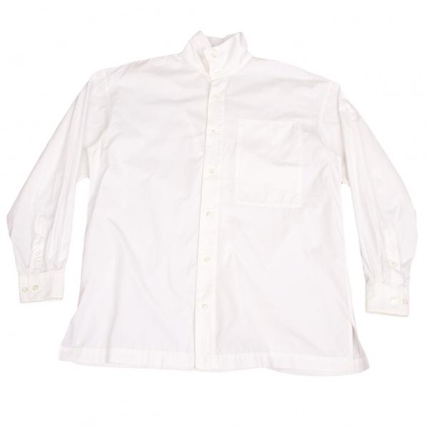 イッセイミヤケメンISSEY MIYAKE MEN コットンスタンドカラーシャツ 白XL【中古】【メンズ】