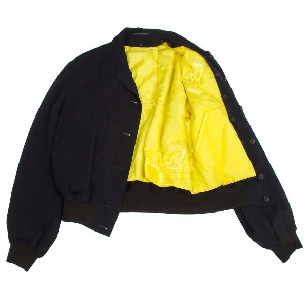 ヨウジヤマモト プールオムYohji Yamamoto POUR HOMME 中綿リバーシブルジャケット 黄紺M【中古】【メンズ】
