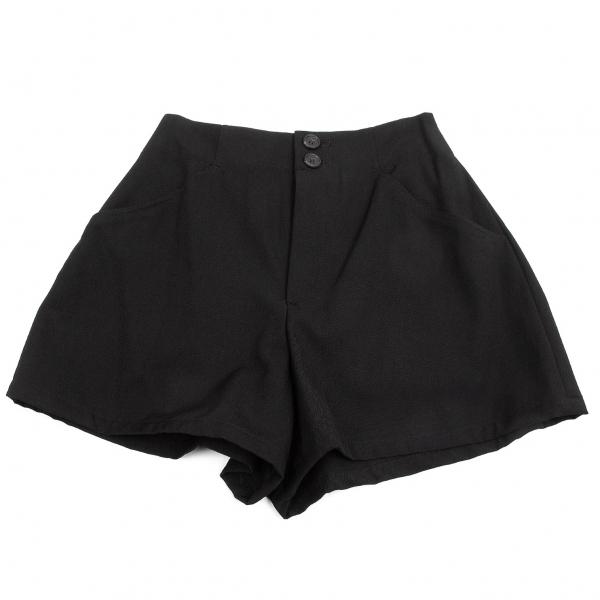 ワイズY's ウールギャバショートパンツ 黒S位【中古】 【レディース】