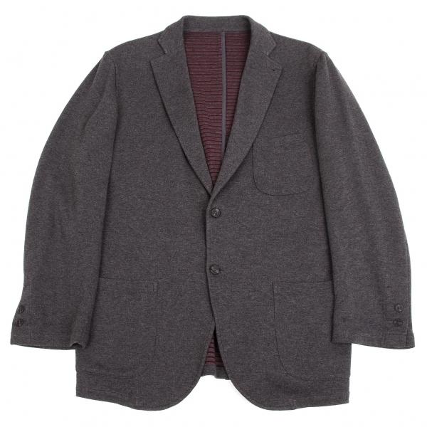 パパスプラスPapas+ コットンスウェットジャケット 杢グレーL【中古】【メンズ】