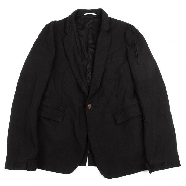 コムデギャルソン オムプリュスCOMME des GARCONS HOMME PLUS ポリ製品染めジップデザインジャケット 黒L【中古】【メンズ】