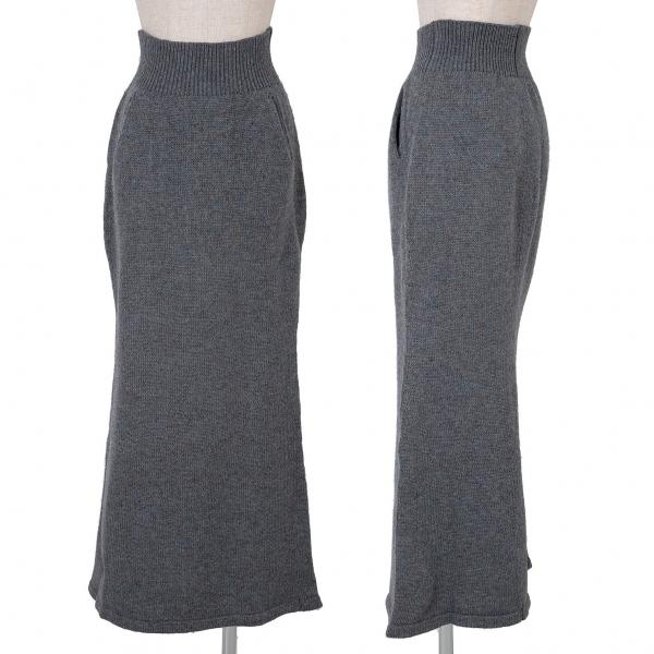 ワイズY's ミックスニットスカート 杢水色ベージュ3【中古】【レディース】