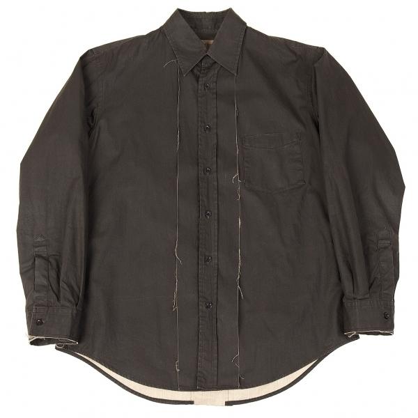 ワイズフォーメンY's for men 切替断ち切りコットンシャツ 墨黒3【中古】【メンズ】