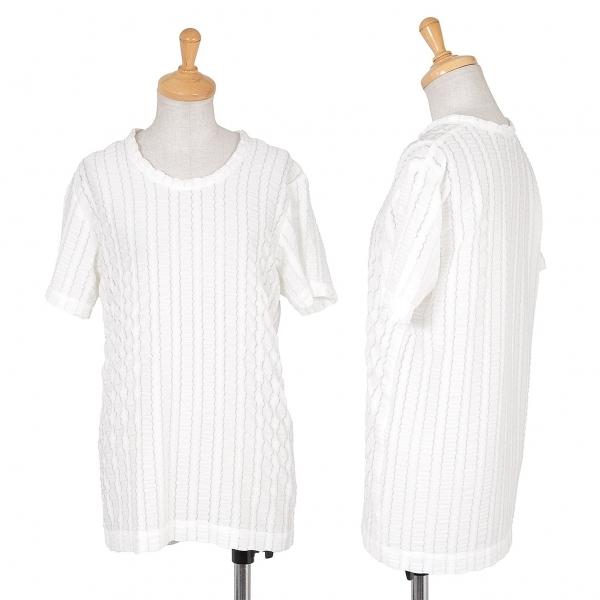 コムデギャルソンCOMME des GARCONS ポリエステルレースデザインTシャツ 白M位【中古】 【レディース】