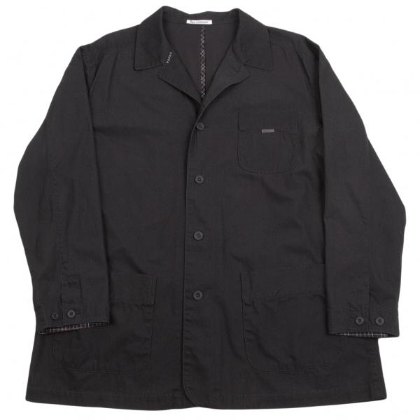 パパスPapas コットンカバーオールジャケット 黒L【中古】【メンズ】