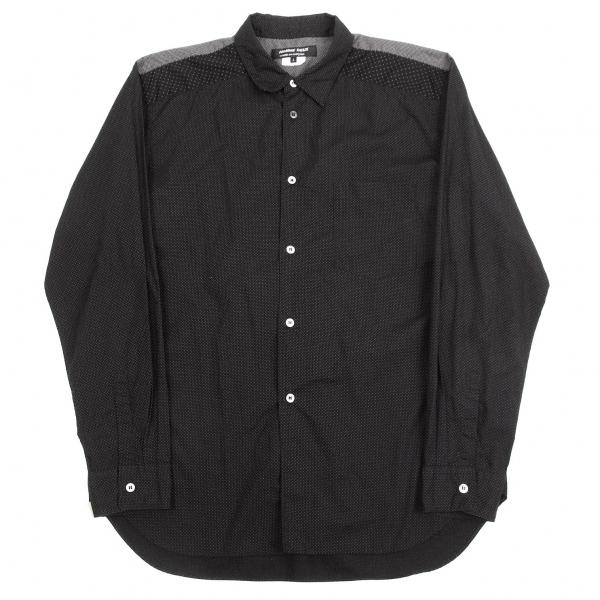 コムデギャルソン オムドゥCOMME des GARCONS HOMME DEUX ドット切替コットンシャツ 黒白L【中古】【メンズ】