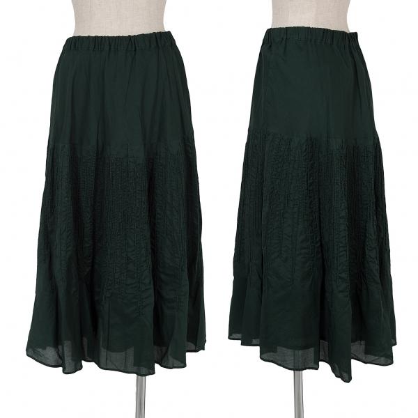 プランテーションPlantation 製品染め刺繍スカート 深緑M位【中古】【レディース】