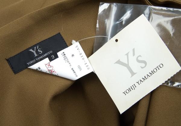 新品 ワイズY's ウールサージワイドベルトラップスカート カーキ3レディースvN8m0wn