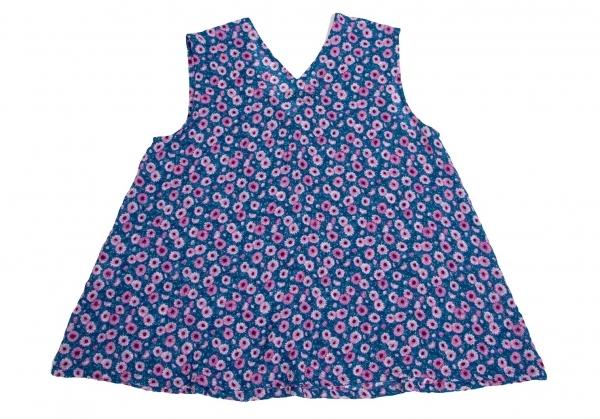 ズッカzucca 花柄ワッシャー加工チュニック 青マルチMレディース0kNOPXnw8