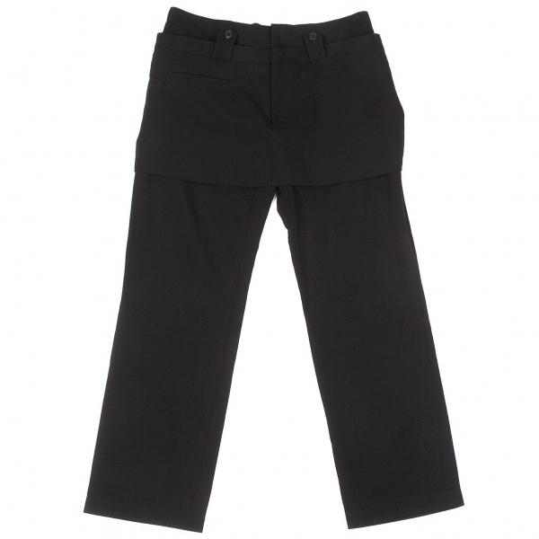 ワイズY's ウールサージショートスカート付きパンツ 黒3【中古】 【レディース】