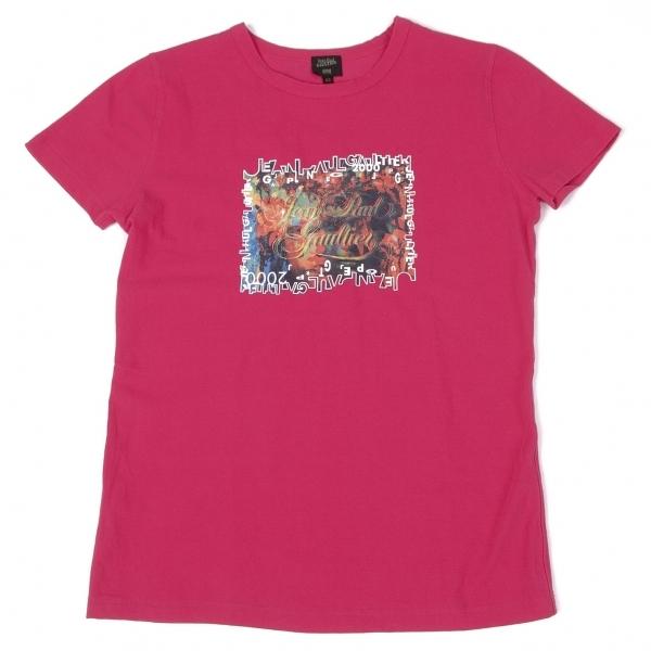 ジャンポールゴルチエ オムJean Paul GAULTIER HOMME ロゴグラフィックストレッチプリントTシャツ ピンク48【中古】 【メンズ】