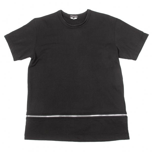 コムデギャルソン オムプリュスCOMME des GARCONS HOMME PLUS フロントジップデザインTシャツ 黒M【中古】 【メンズ】