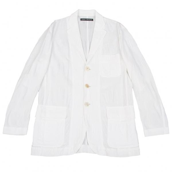イッセイミヤケ メンISSEY MIYAKE MEN ジャガードテーラードジャケット 白1【中古】 【メンズ】