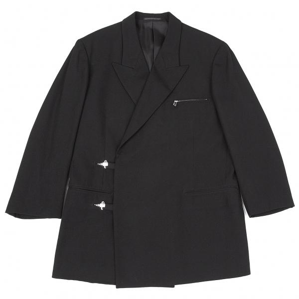 ヨウジヤマモト プールオムYohji Yamamoto POUR HOMME ウールカシミヤジップデザインジャケット 黒2【中古】 【メンズ】
