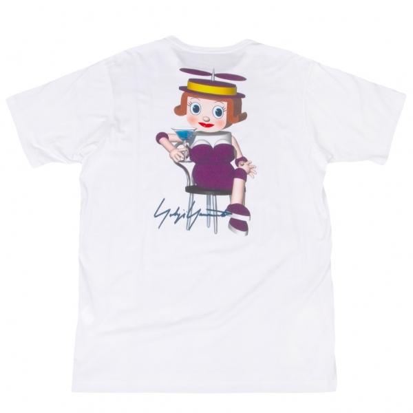 ヨウジヤマモト プールオムYohji Yamamoto POUR HOMME バックプリントTシャツ 白3【中古】 【メンズ】