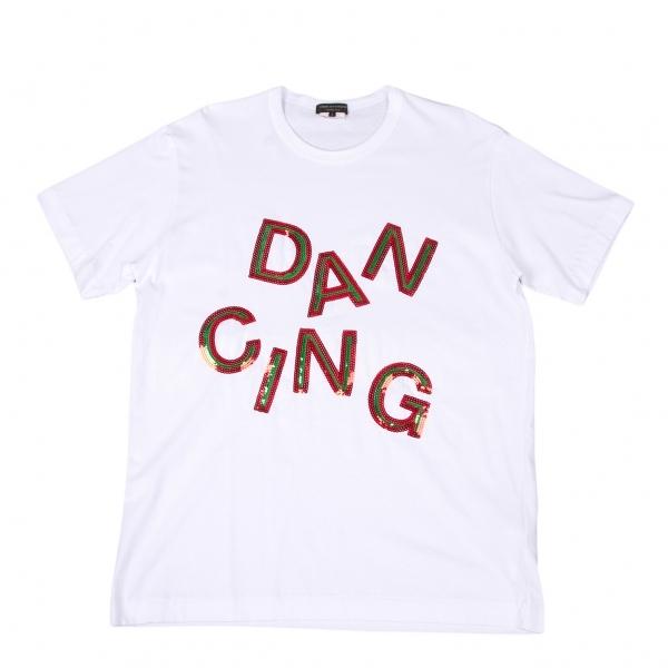 コムデギャルソン オムプリュスCOMME des GARCONS HOMME PLUS スパンコール装飾Tシャツ 白L【中古】 【メンズ】
