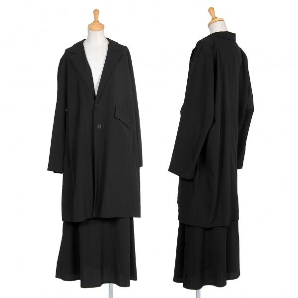 ワイズY's 2Bウールギャバセットアップスーツ 黒M位【中古】 【レディース】