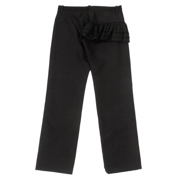 ワイズY's モヘヤシルクフリルデザインパンツ 黒2【中古】 【レディース】