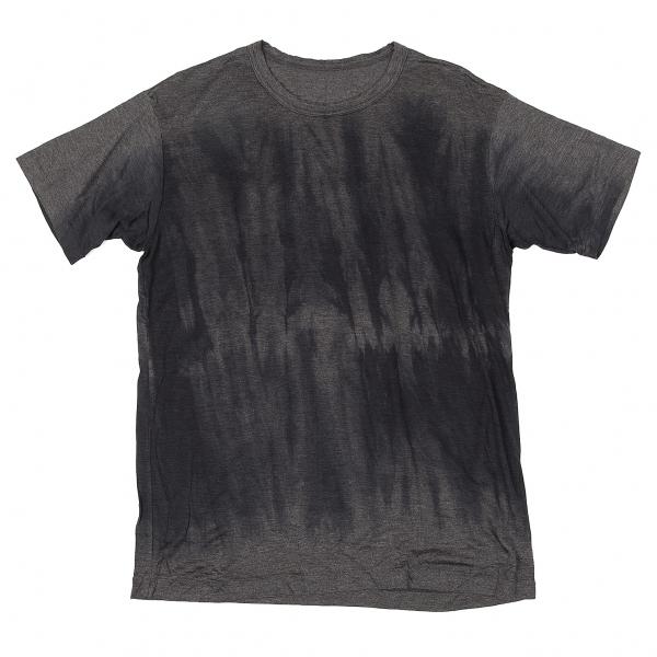 ヨウジヤマモト プールオムYohji Yamamoto POUR HOMME 製品染めテンセルTシャツ グレー紺3【中古】 【メンズ】