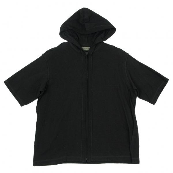 ワイズフォーメンY's for men 天竺インサイドアウト半袖ジップパーカー 黒3【中古】 【メンズ】